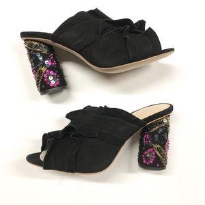 LOEFFLER RANDALL Kaya Beaded Heel Slides Sandals